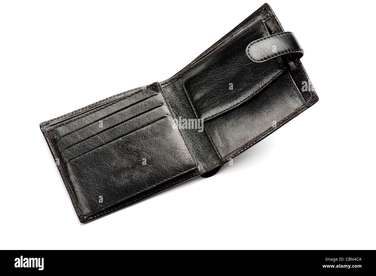 An empty wallet, close-up - Stock Image