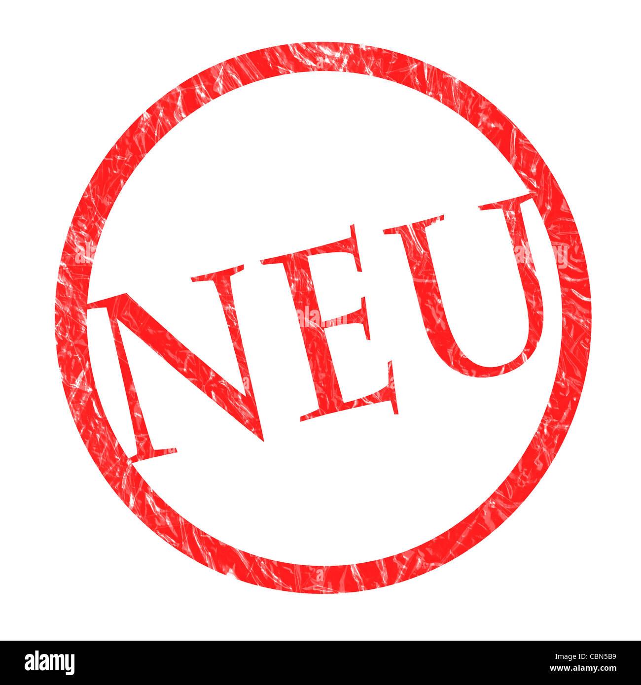 Stempel NEU - Stock Image