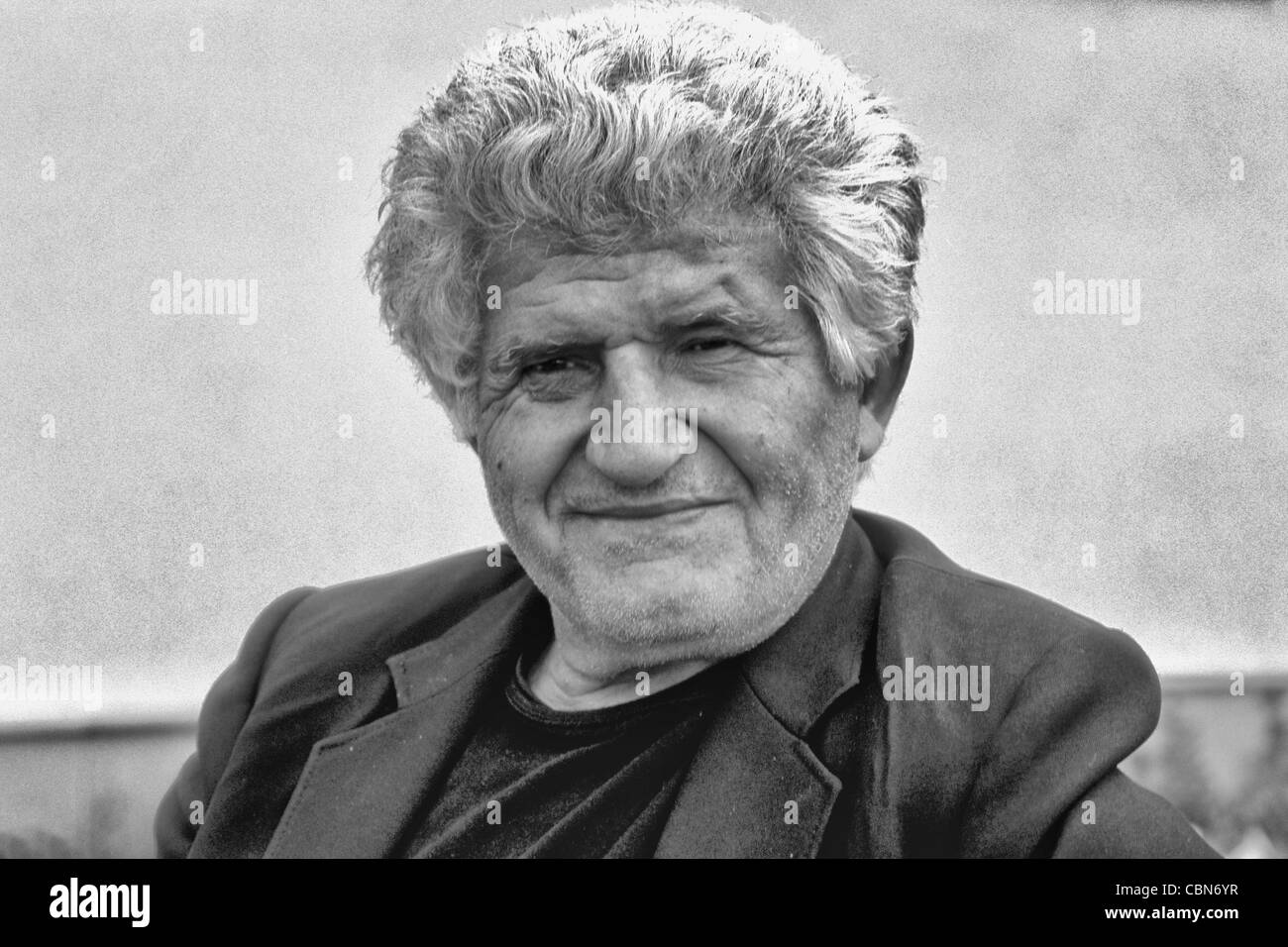 Albania close up of man portrait outside Tirana Albania - Stock Image