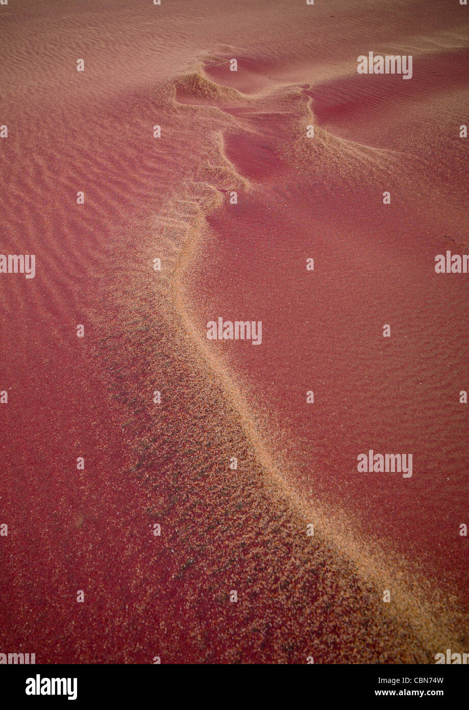 Pink Sand In The Namib Desert, Iona National Park, Angola Stock Photo