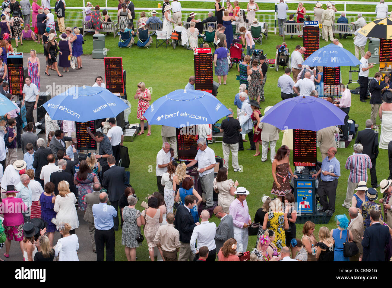 Goodwood races, West Sussex, England, United Kingdom. Intended for Unreleased Travel - Stock Image