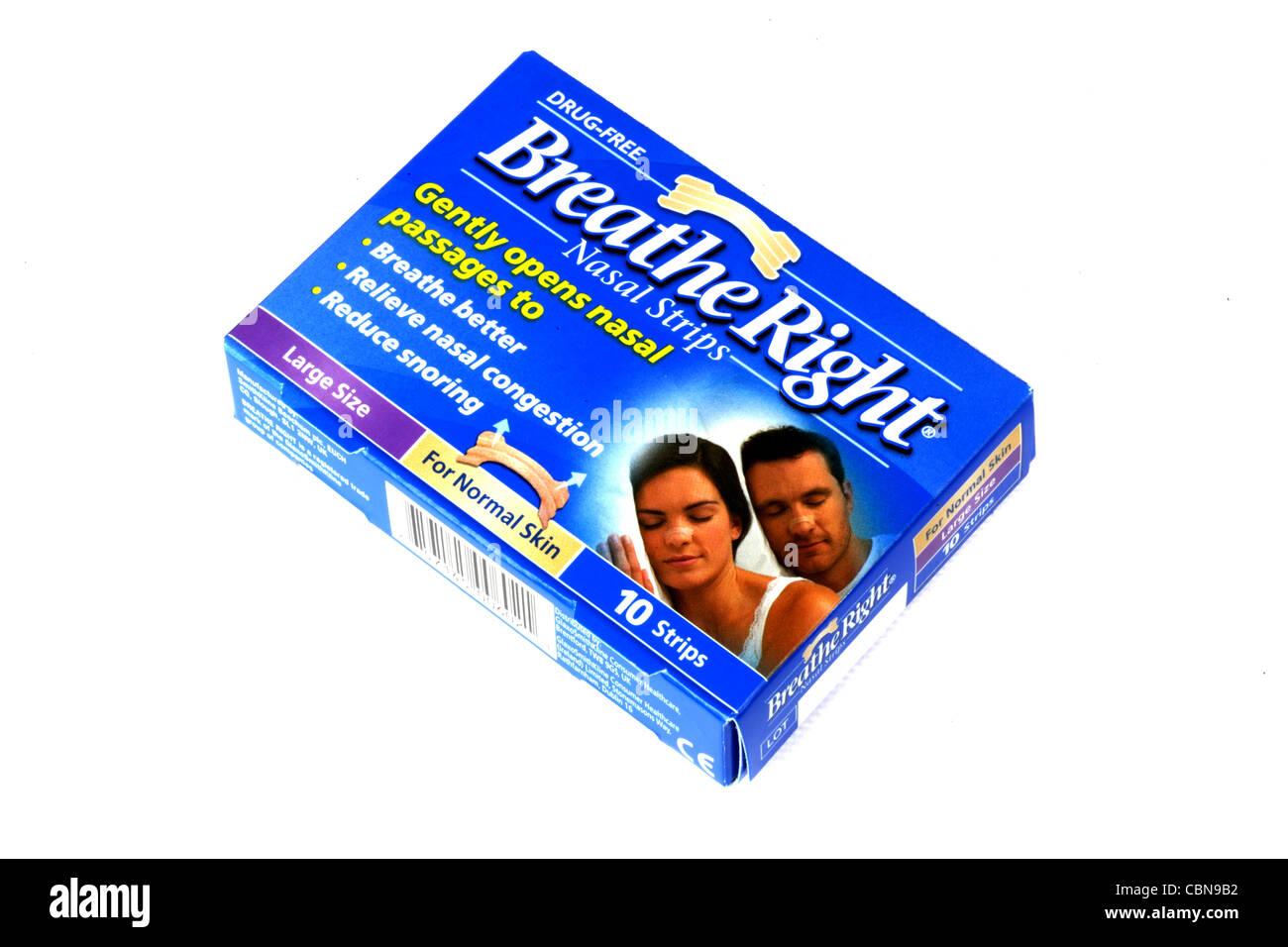 Breathe Right Nasal Strips Stock Photo