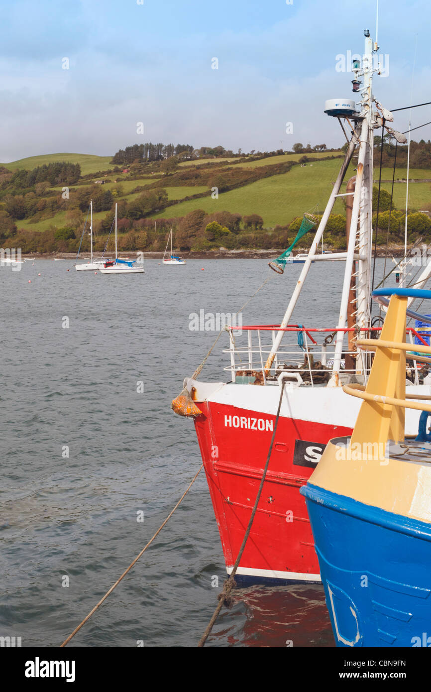 Harbour at Union Hall, County Cork, Republic of Ireland. - Stock Image