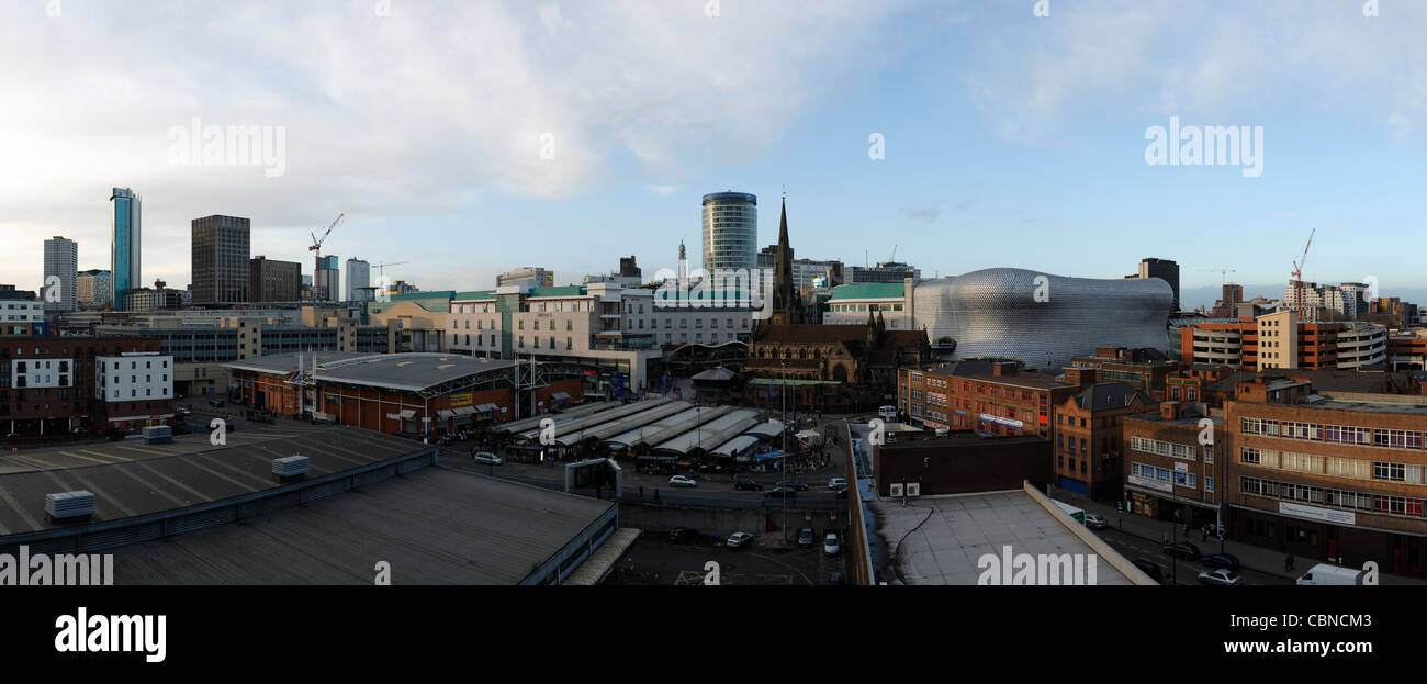 Birmingham city centre skyline Stock Photo
