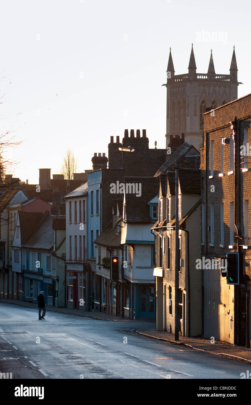 Castle Hill Cambridge in early morning. Cambs. England. - Stock Image
