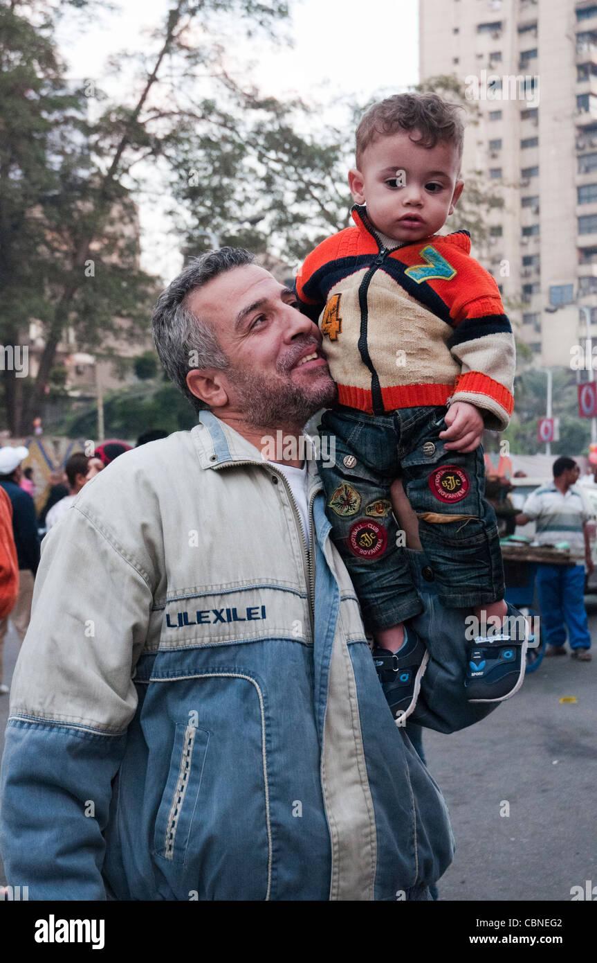 Celebrating Eid el Adha, the Islamic Feast of Sacrifice, in Cairo - Stock Image