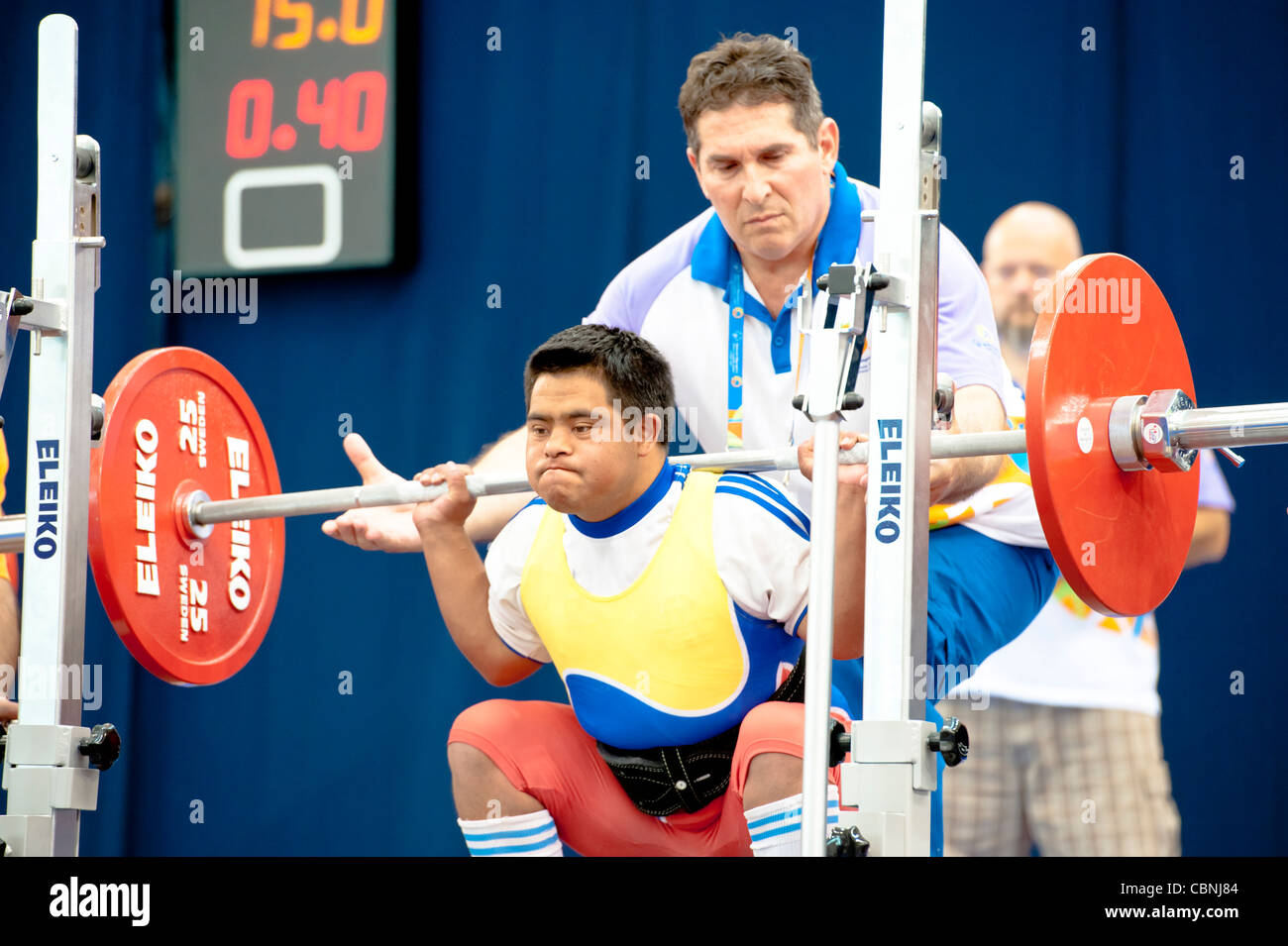 Special Olympics World Summer Games in Athens; 2011 --- Weightlifting Finals - Stock Image