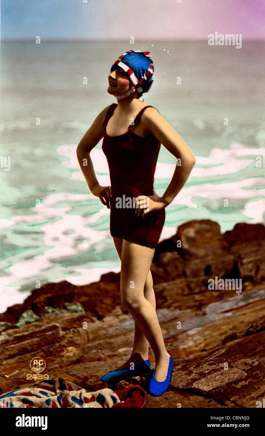 f7044048f8a 1920s Beach Photo Stock Photos   1920s Beach Photo Stock Images - Alamy
