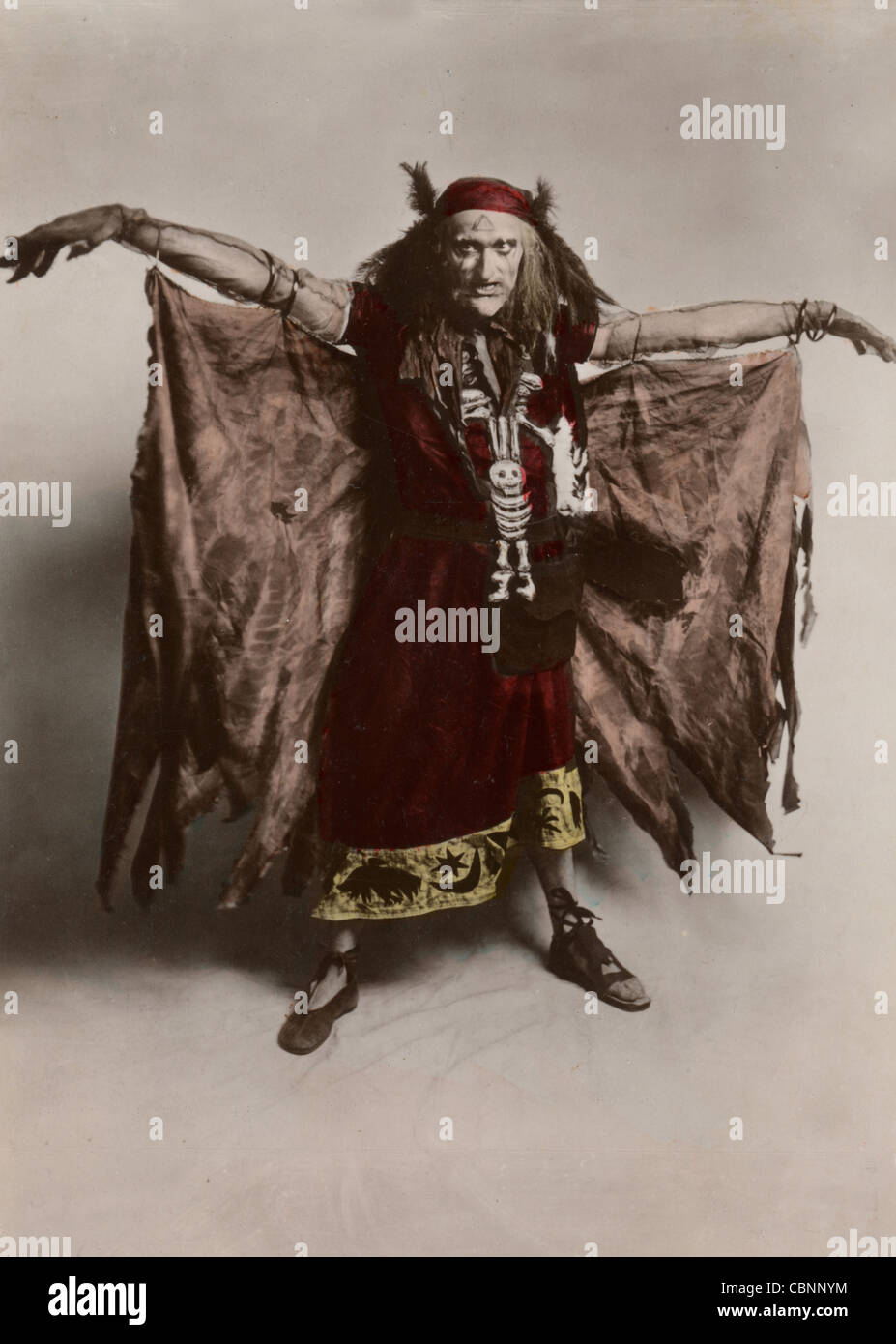 Charles Quartermaine as The Witch, in Faust - Stock Image