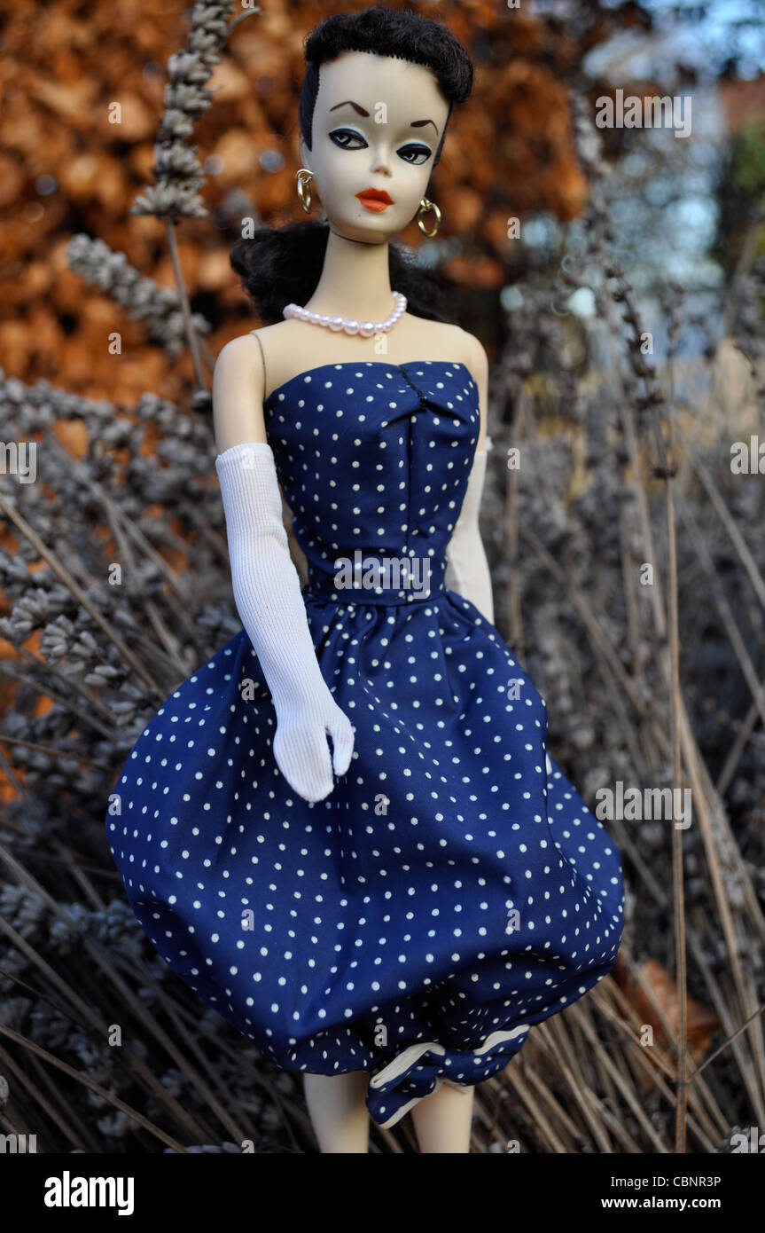 #1 1959 first model vintage Barbie doll by Mattel wearing Gay Parisienne.  Highly collectible