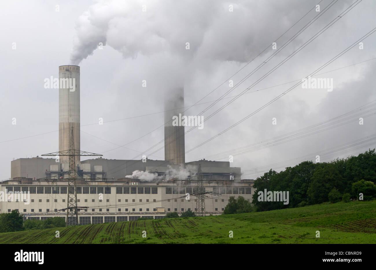 Generating plant Frimmersdorf, Germany - Stock Image