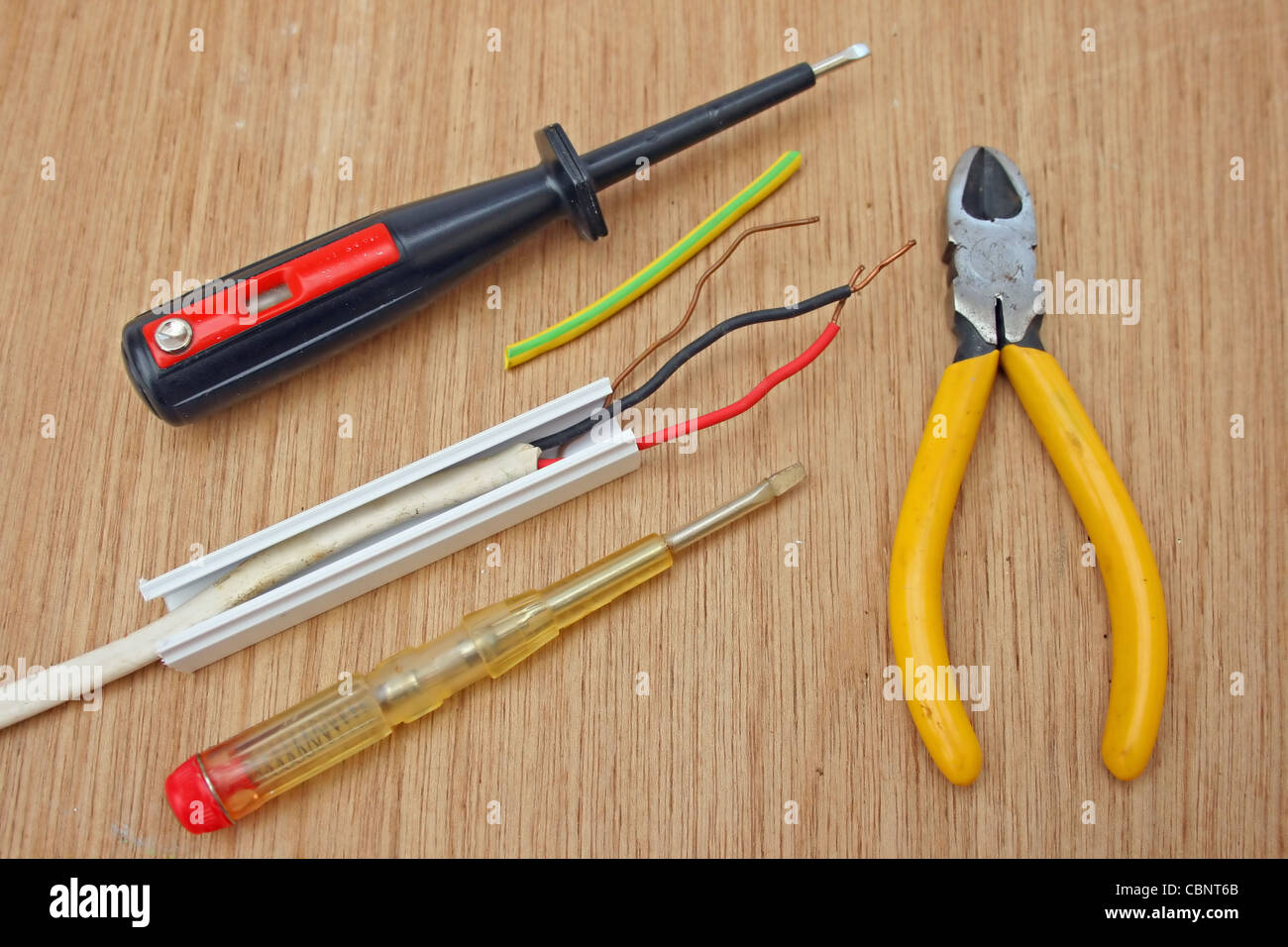 electricians tools with wiring stock photo 41661939 alamy tools for writing a paper tools for wiring #1