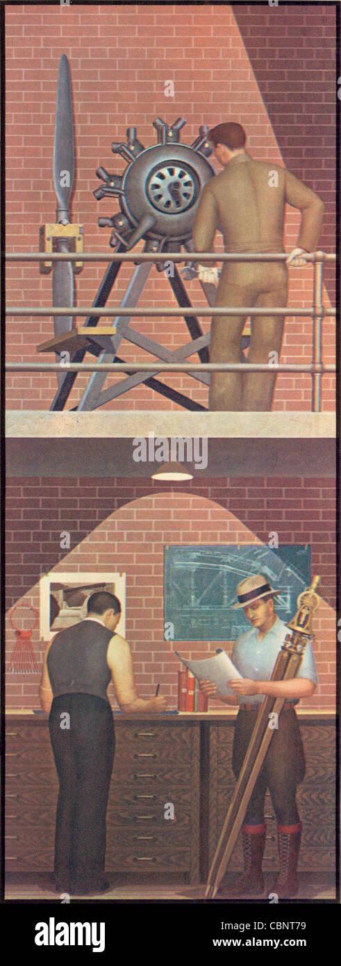 Aeronautics and Civil Engineering - Stock Image