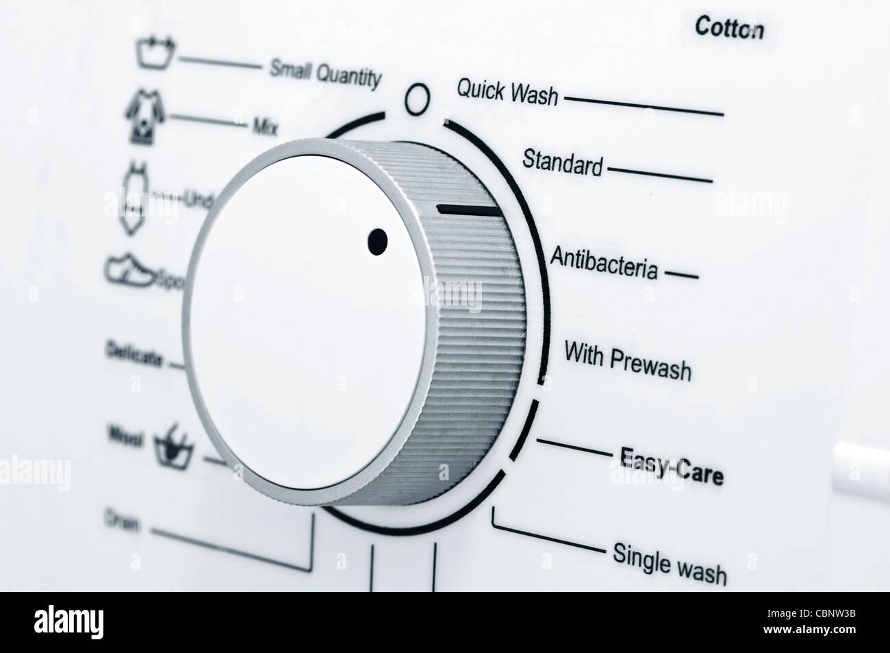 Laundry washing machine programs - Stock Image