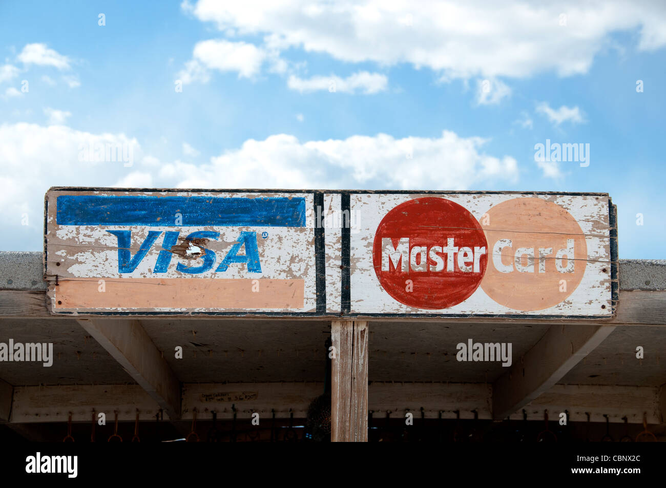 Visa San Francisco California United States Mastercard  New York United States - Stock Image
