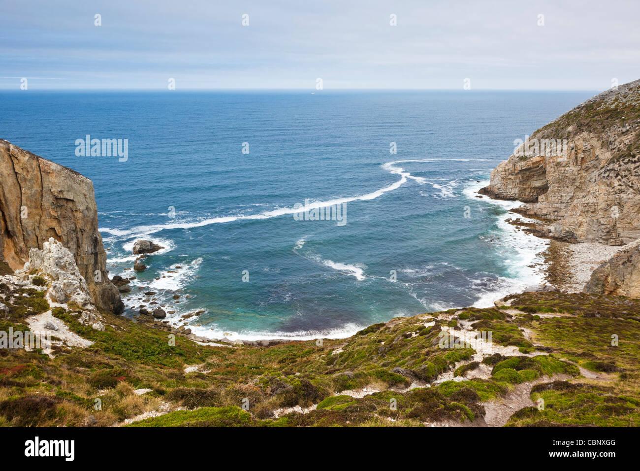 Coast at Cap de la Chevre, Crozon Peninsula, Finistere, Brittany, France - Stock Image