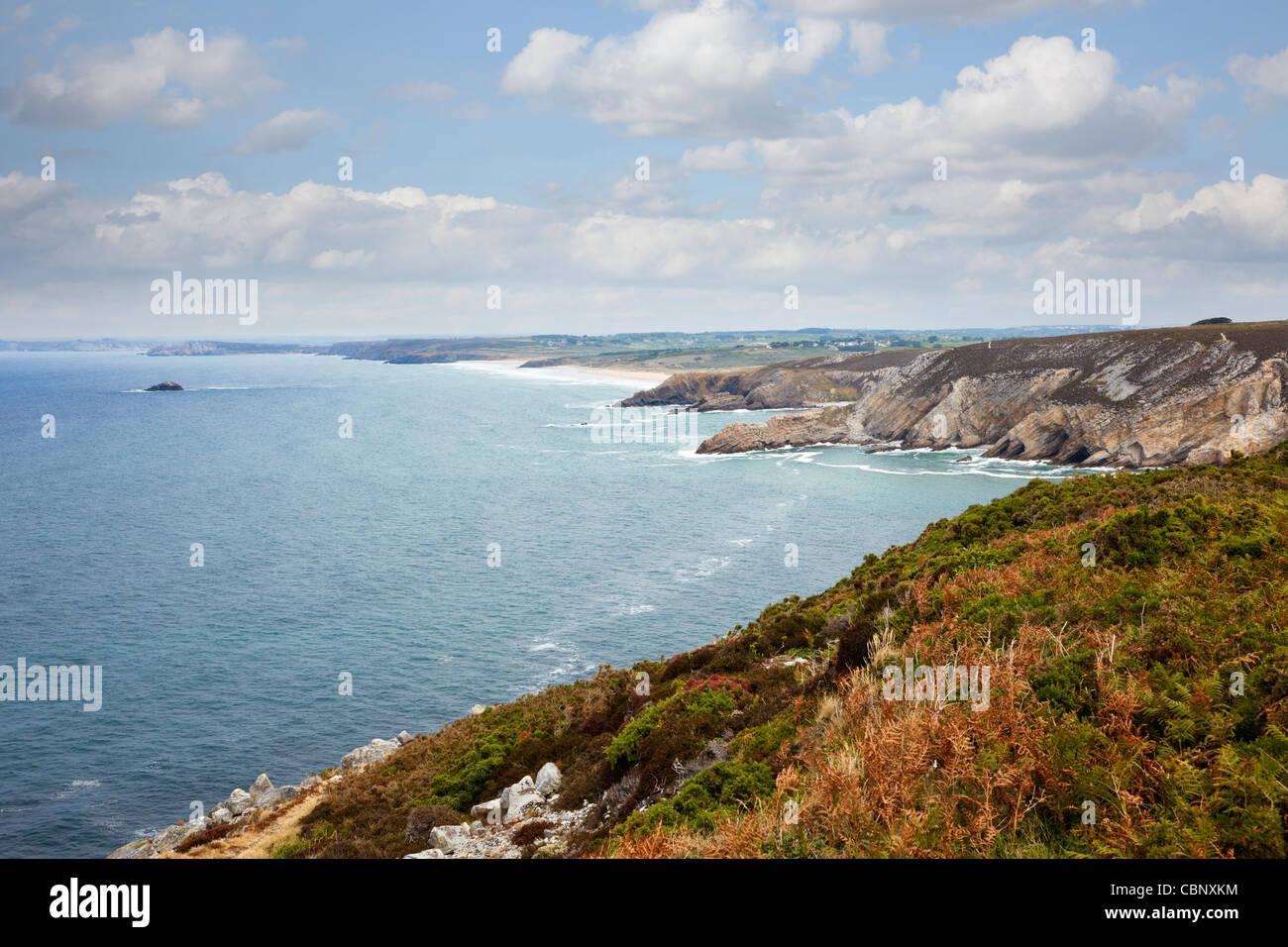 Cap de la Chevre, Crozon Peninsula, Finistere, Brittany, France - Stock Image
