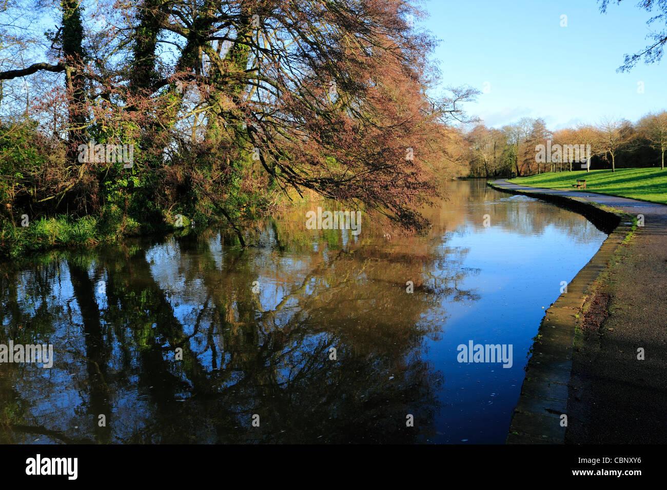 River Itchen, Riverside Park, Southampton - Stock Image