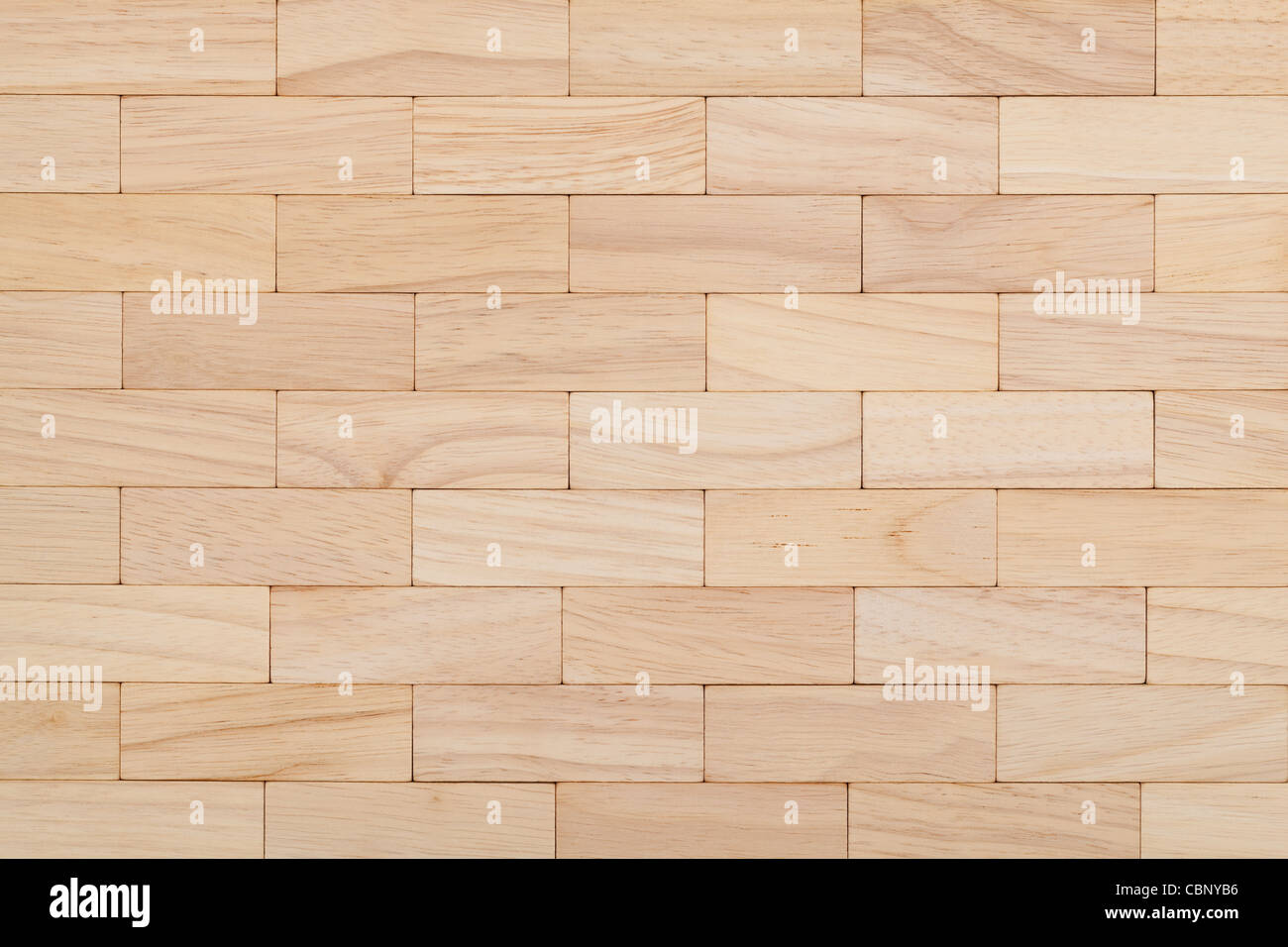 parquet beech in pale color as background - Stock Image