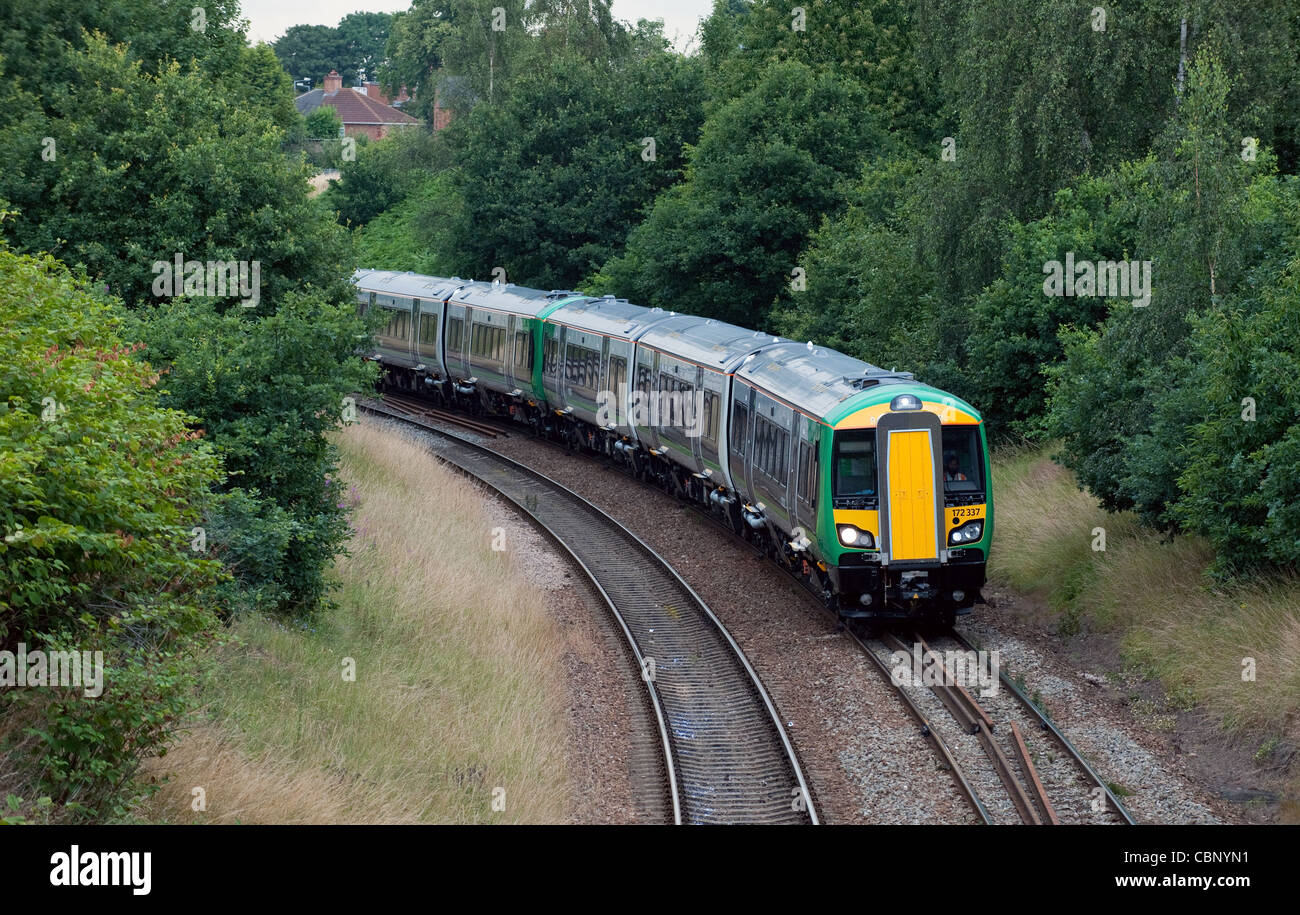 The Bombardier 172 in London Midland livery  The trains are