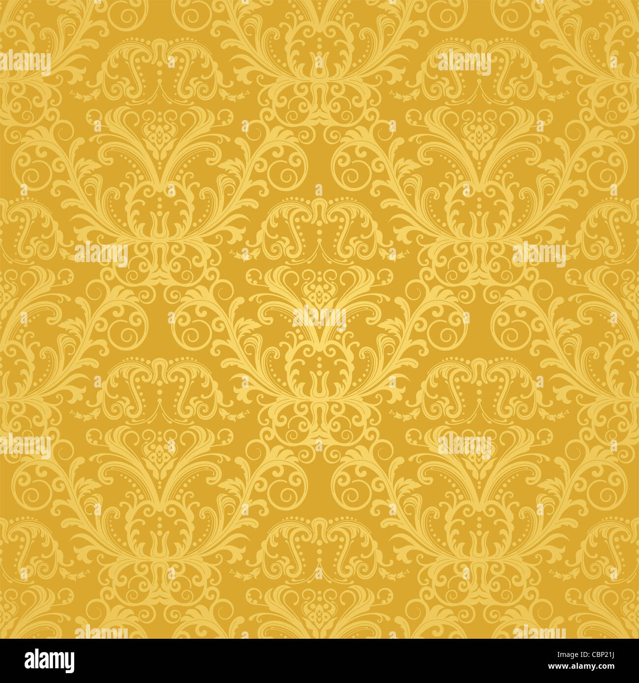 Luxury Seamless Golden Floral Wallpaper Pattern
