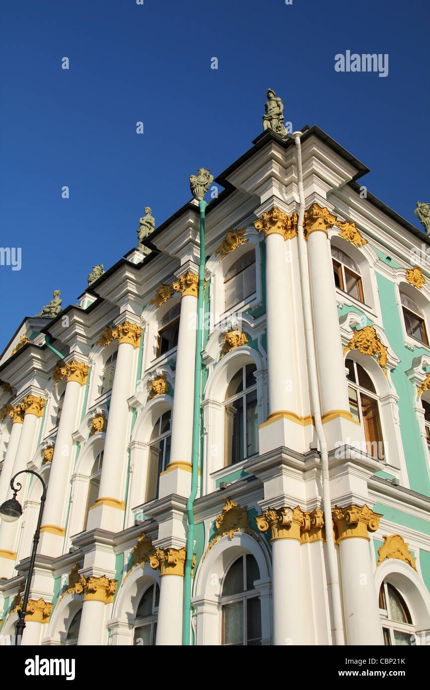 Elements of Winter Palace, famous Russian museum, Saint Petersburg