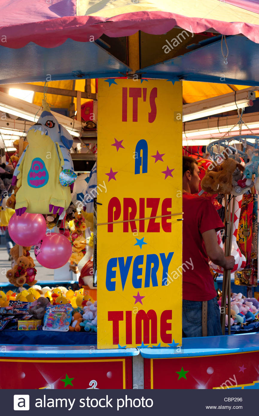 A Prize Every Time, Goose Fair, The Forest , Nottingham, - Stock Image
