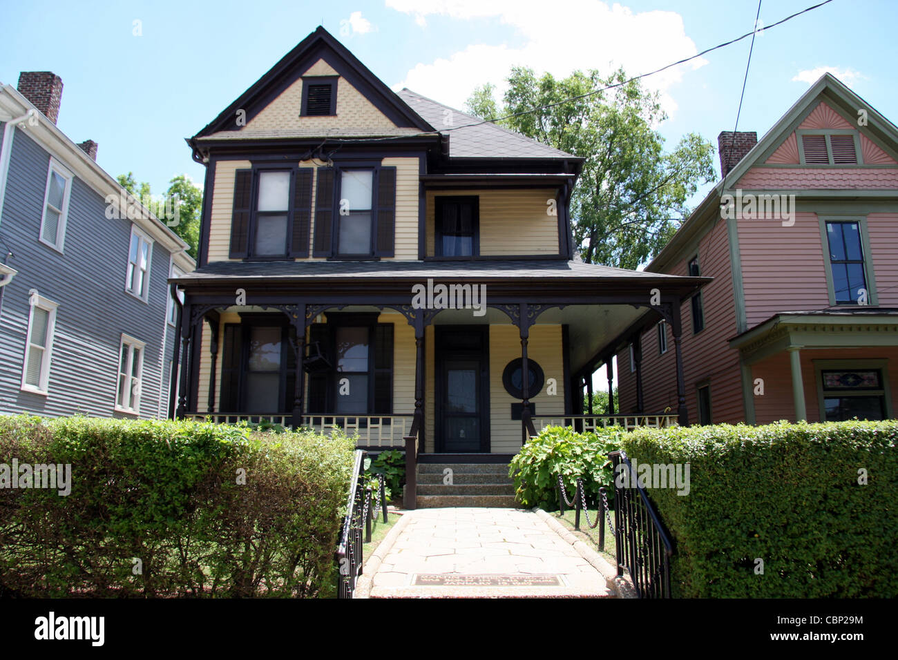 Martin Luther King, Jr. was born in this house at 501 Auburn Avenue, Atlanta, Georgia on January 15, 1929 - Stock Image