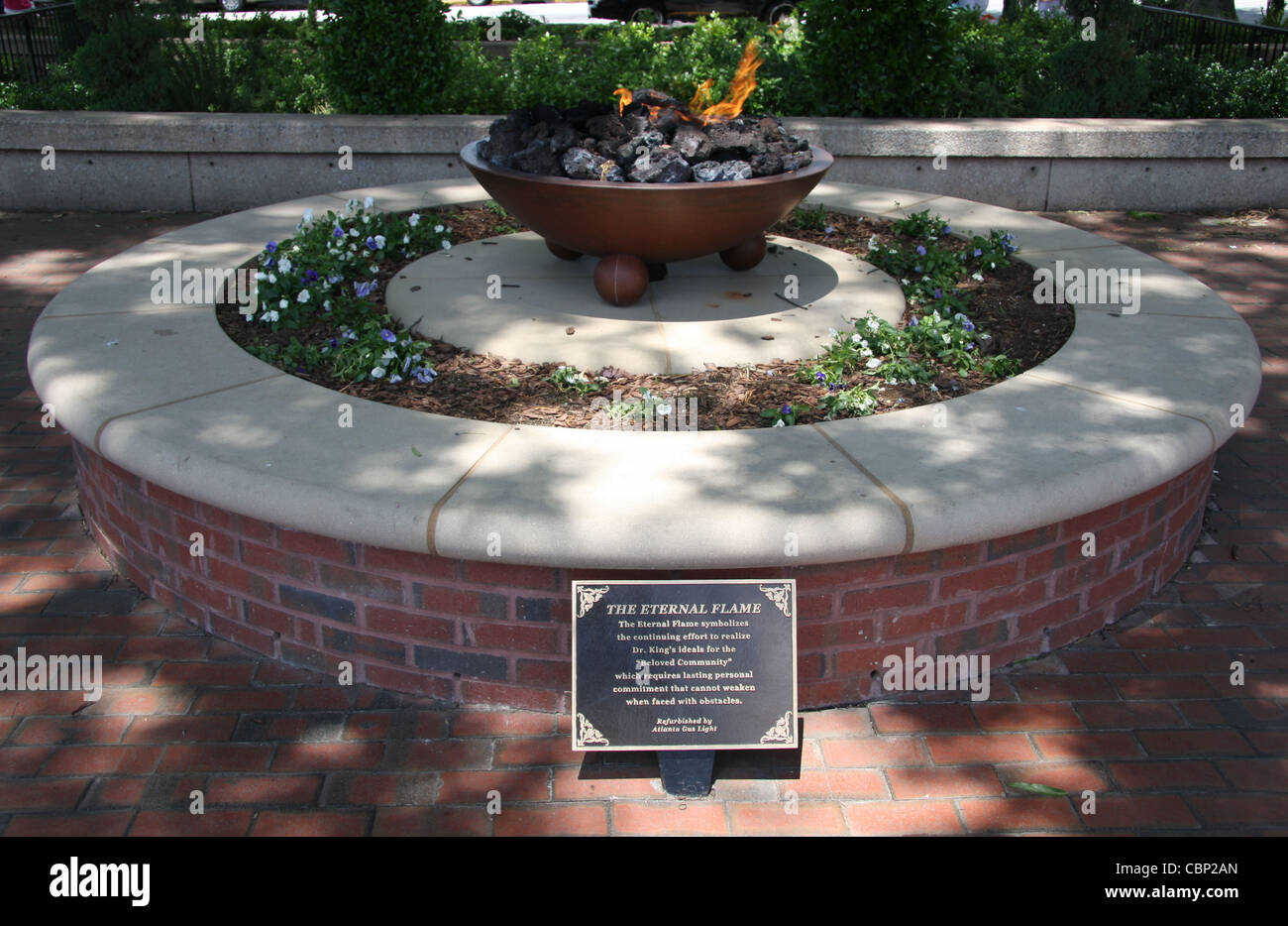 The Eternal Flame at the King Center, Atlanta, Georgia - Stock Image