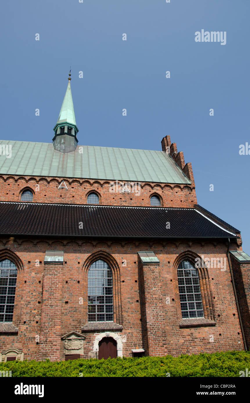 Denmark, Helsingoer. Helsingoer Domkirke St. Olai (aka Helsingoer Cathedral) - Stock Image