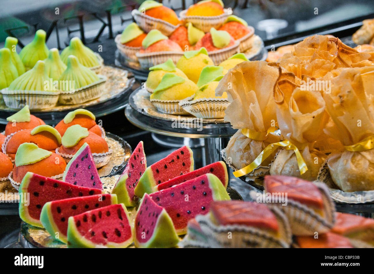 Parisian French  patisserie - Stock Image