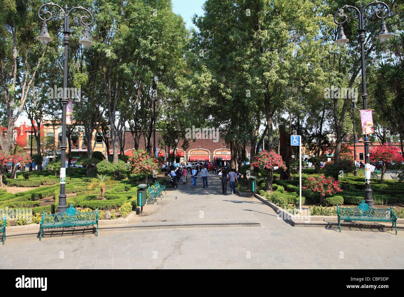Plaza Hidalgo Coyoacan Mexico City Mexico North America Stock