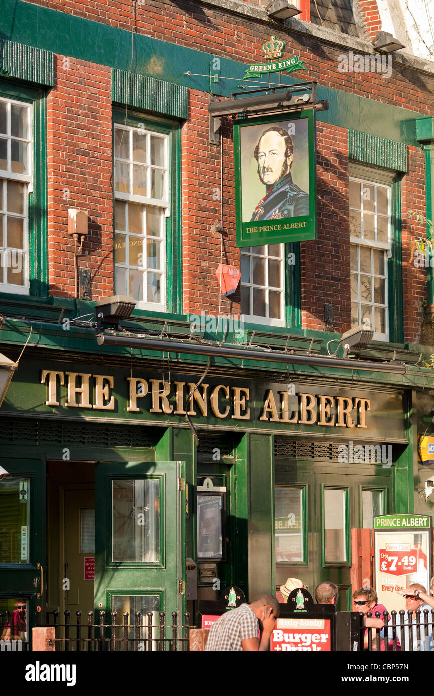 The Prince Albert, public house in Brixton, London - Stock Image