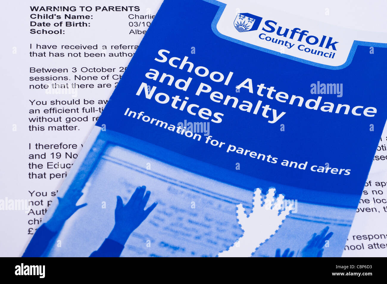 A Warning Letter Sent From A Council To Parents Taking Their