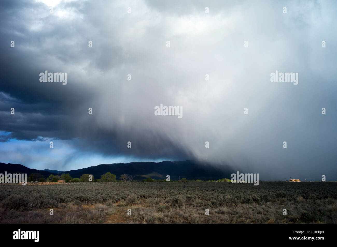 Squall over Taos, New Mexico, USA - Stock Image