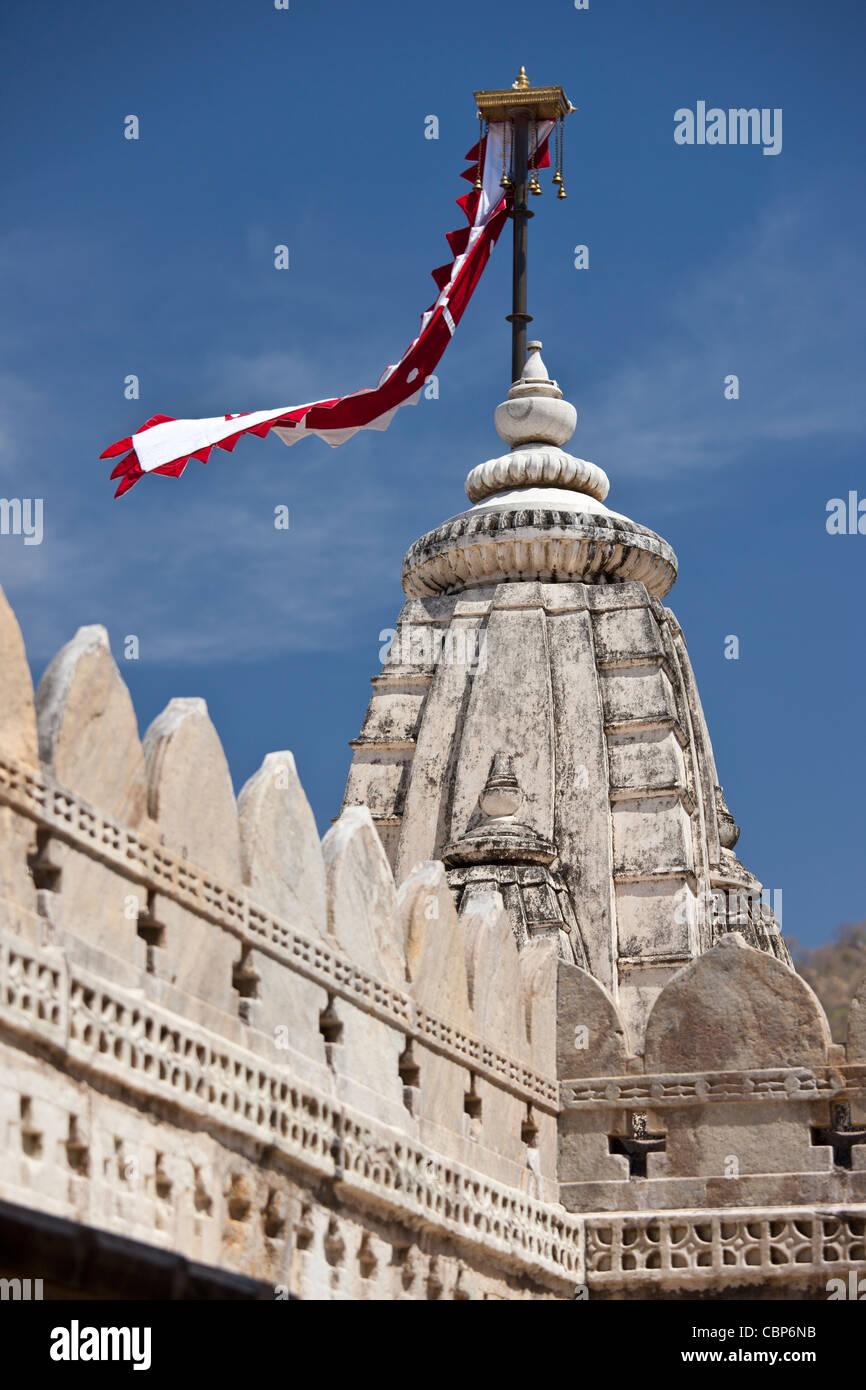 The Ranakpur Jain Temple at Desuri Tehsil in Pali District of Rajasthan, Western India - Stock Image