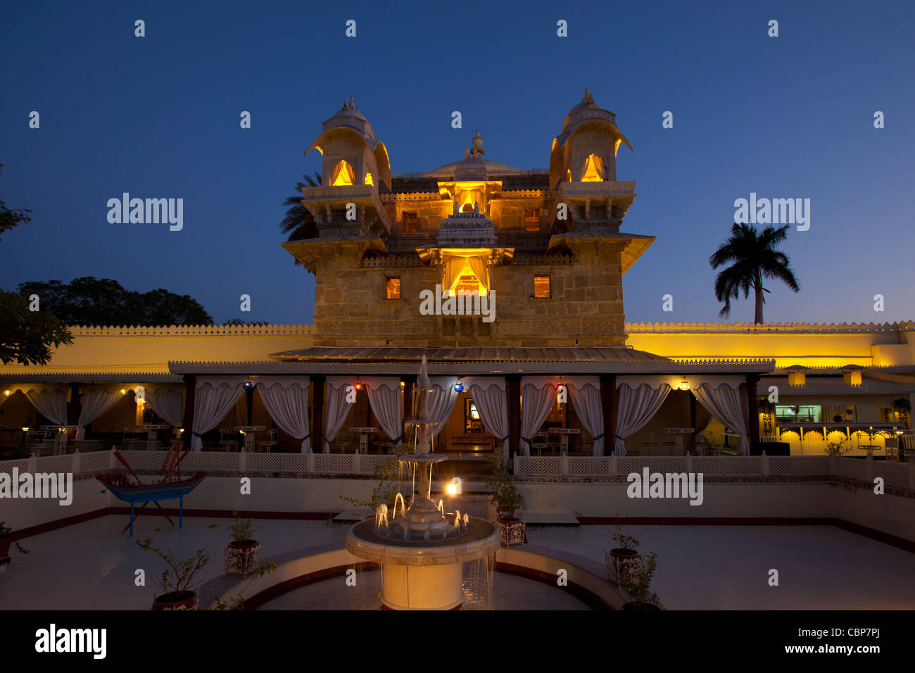 Jagmandir Island Palace of City Palace Complex of 76th Maharana of Mewar, Shreeji Arvind Singh Mewar of Udaipur - Stock Image