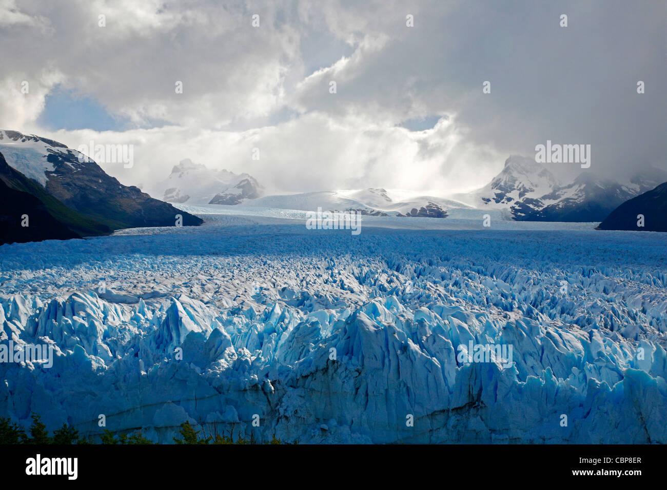 Perito Moreno glacier. Los Glaciares National Park, El Calafate area, Santa Cruz province. Patagonia. Argentina. Stock Photo
