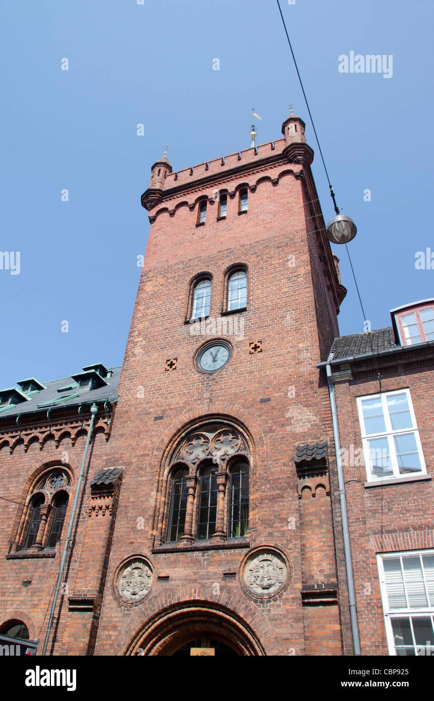 Denmark, Helsingoer. Historic Helsingoer Kommune Radhus building. - Stock Image