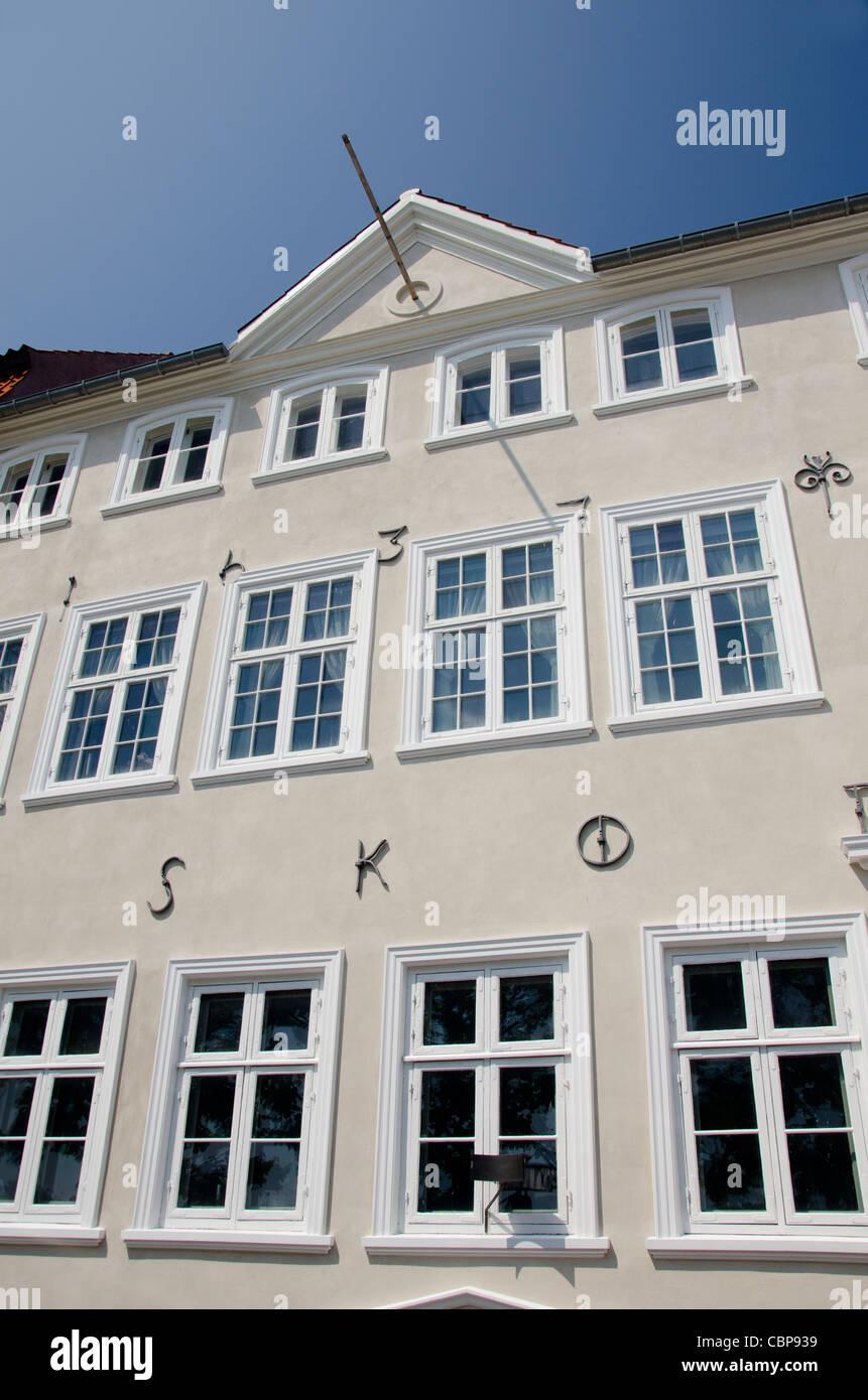 Denmark, Helsingoer. Typical 15th century architecture, circa 1437. - Stock Image