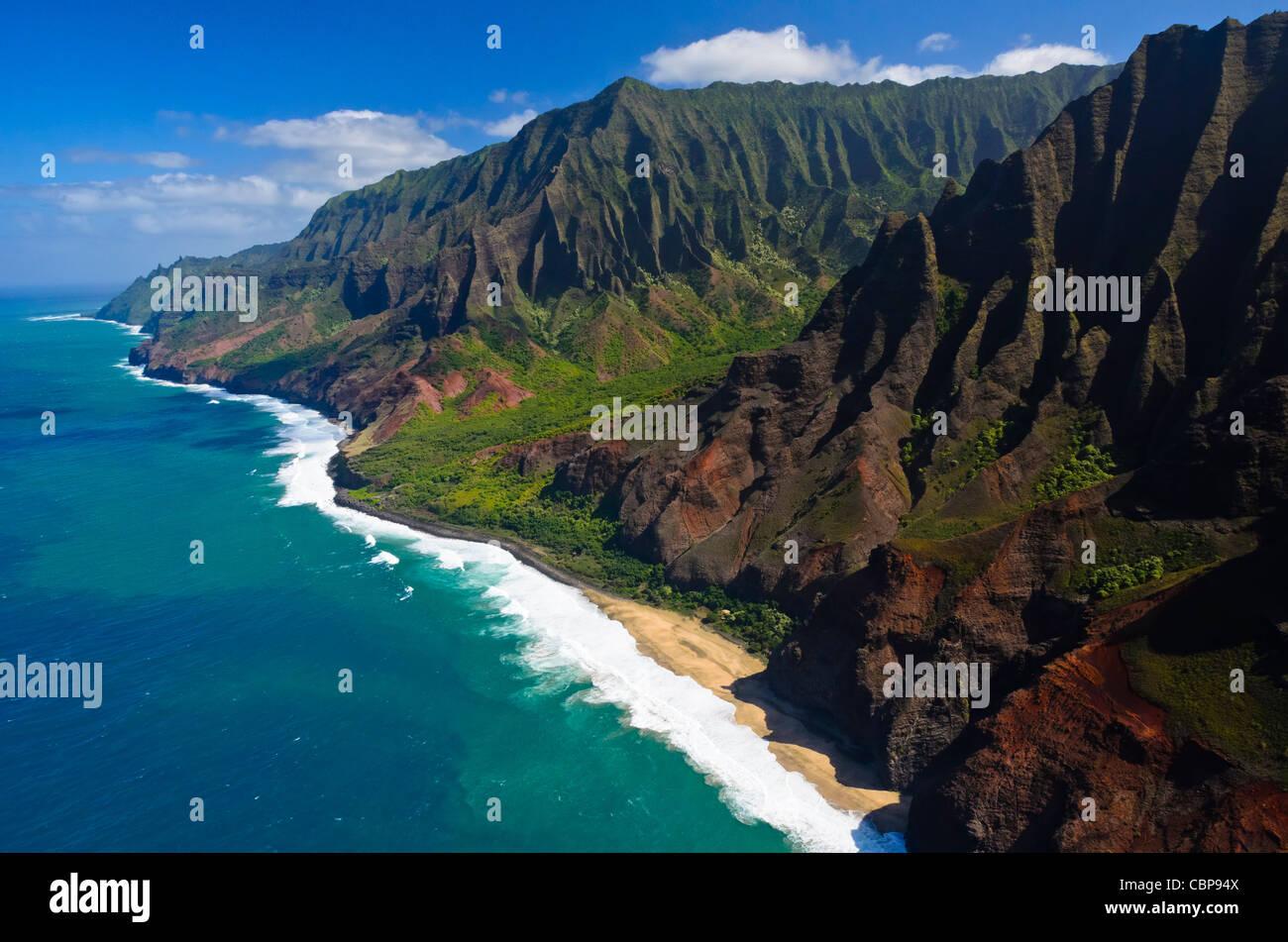 Na Pali coast, Kauai, Hawaii, USA - Stock Image