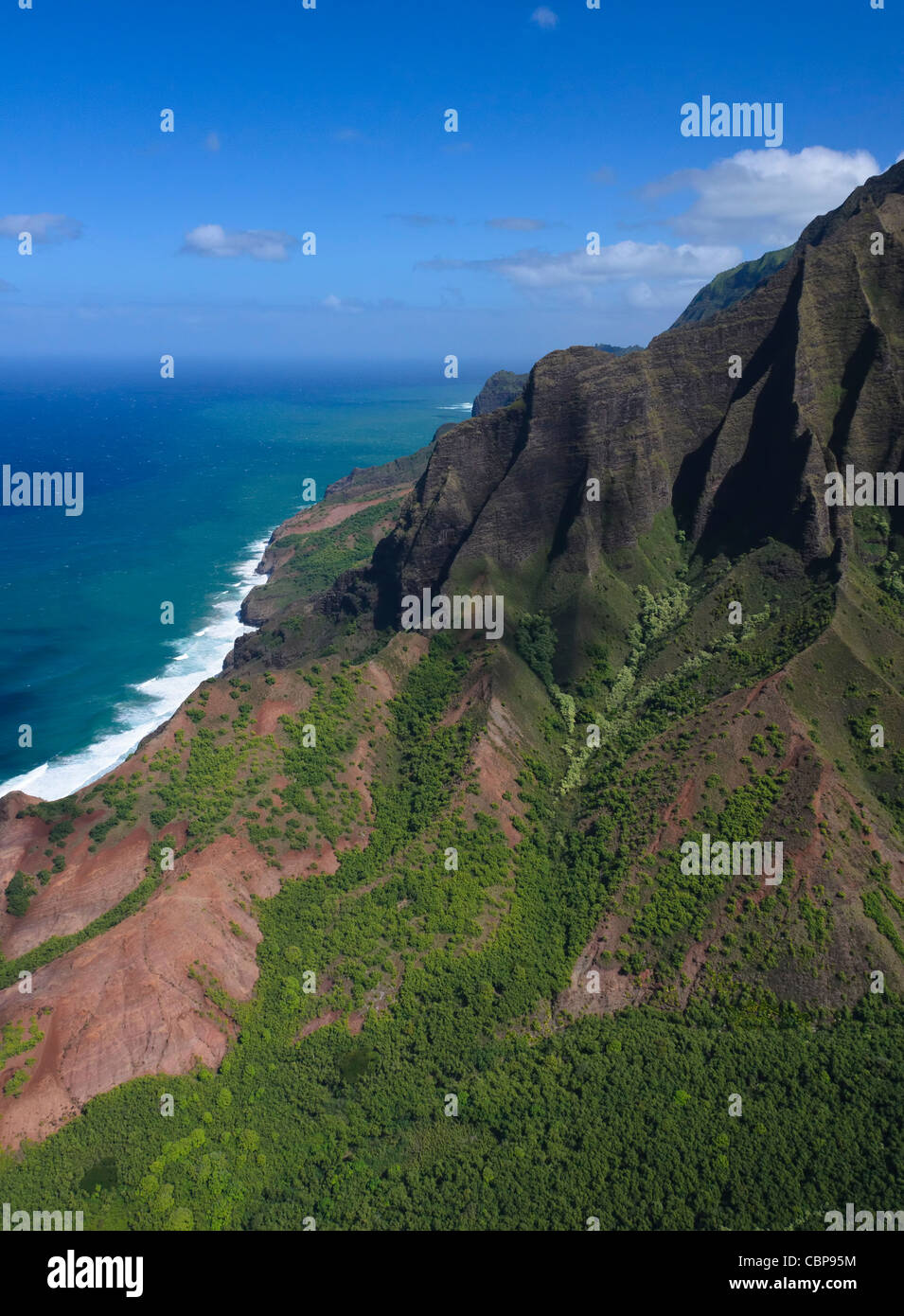 Na Pali coast, Kauai, Hawaii, USA - Stock Image