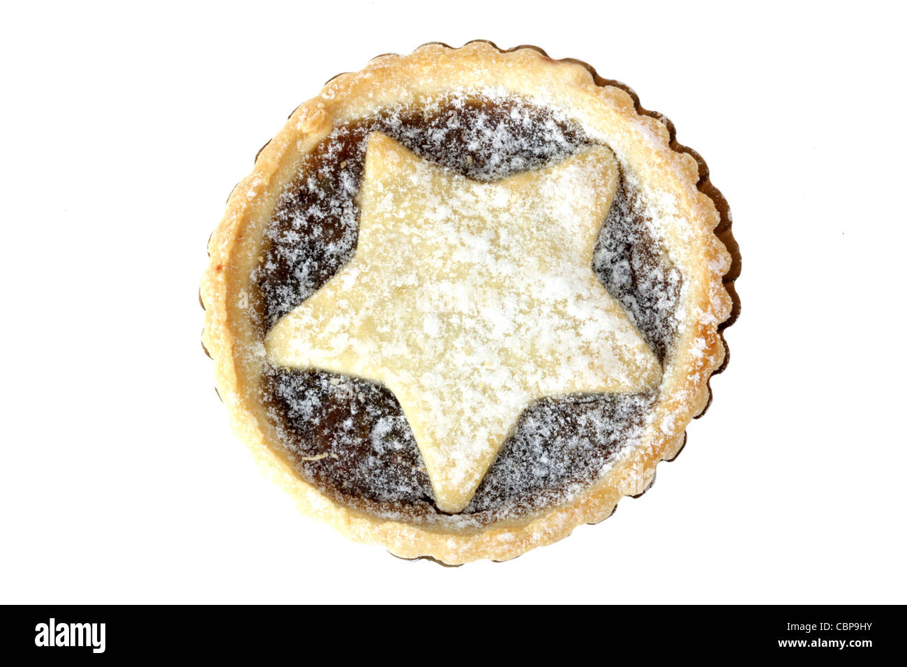 Star Topped Mince Pie - Stock Image