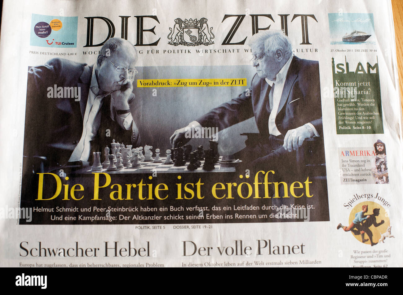 Copy of German newspaper Die Zeit - Stock Image