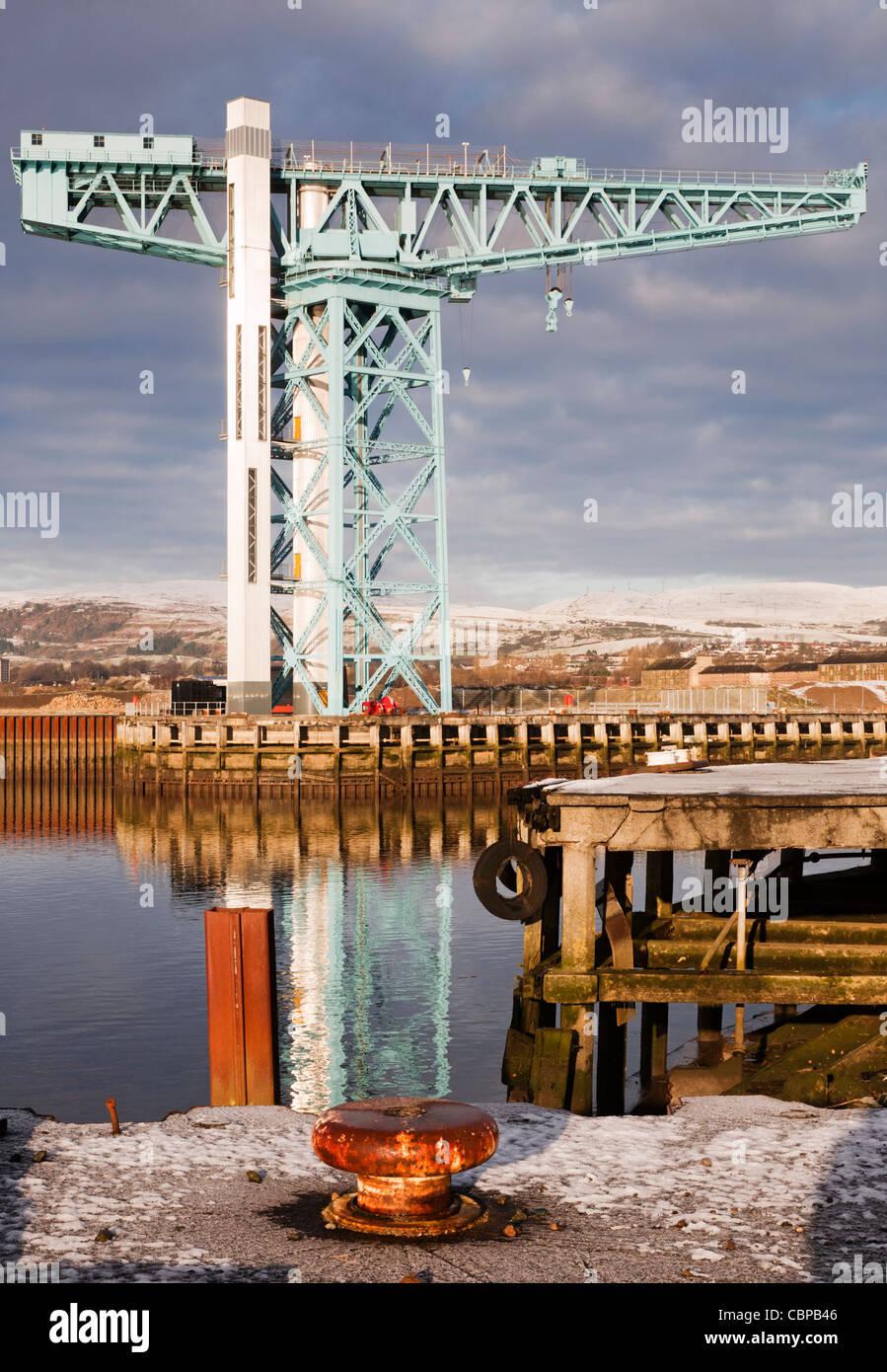 The Titan crane at the site of the former John Brown's shipyard, Clydebank, Scotland. - Stock Image