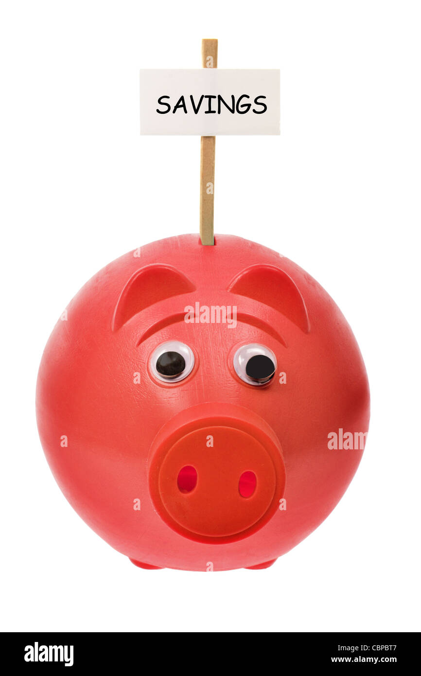 Piggy Bank with Sign Board - Stock Image