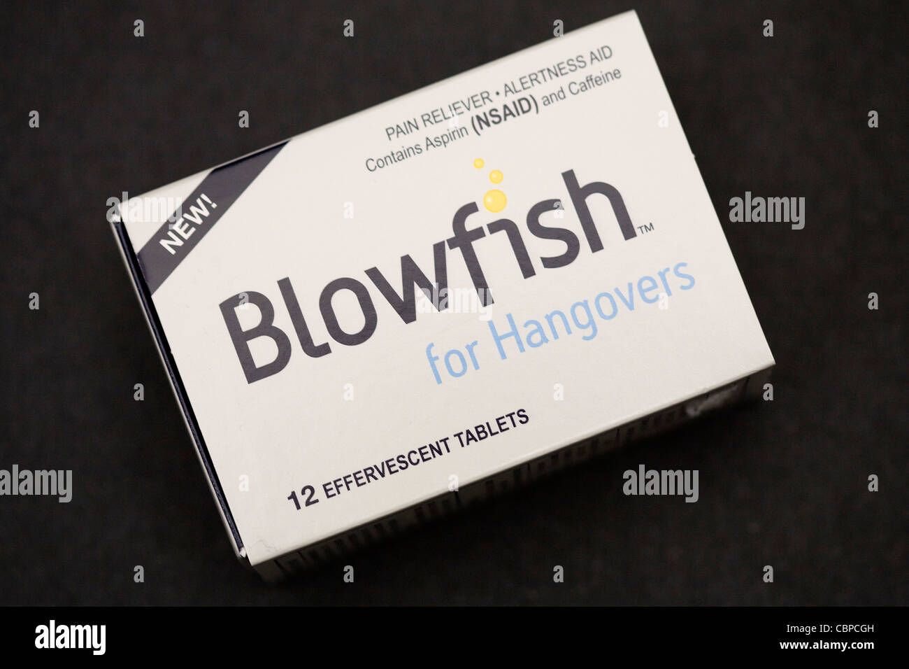 Blowfish- FDA approved hangover cure.  - Stock Image