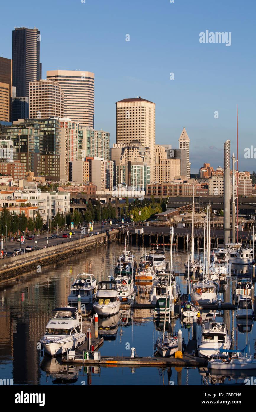Bell Town Marina, Seattle, Washington, USA - Stock Image