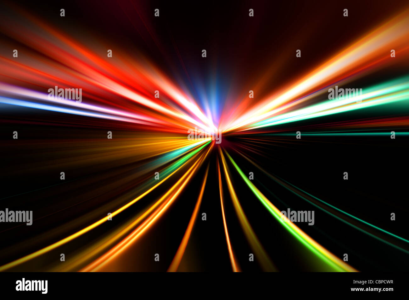 rapid race of night highway - Stock Image