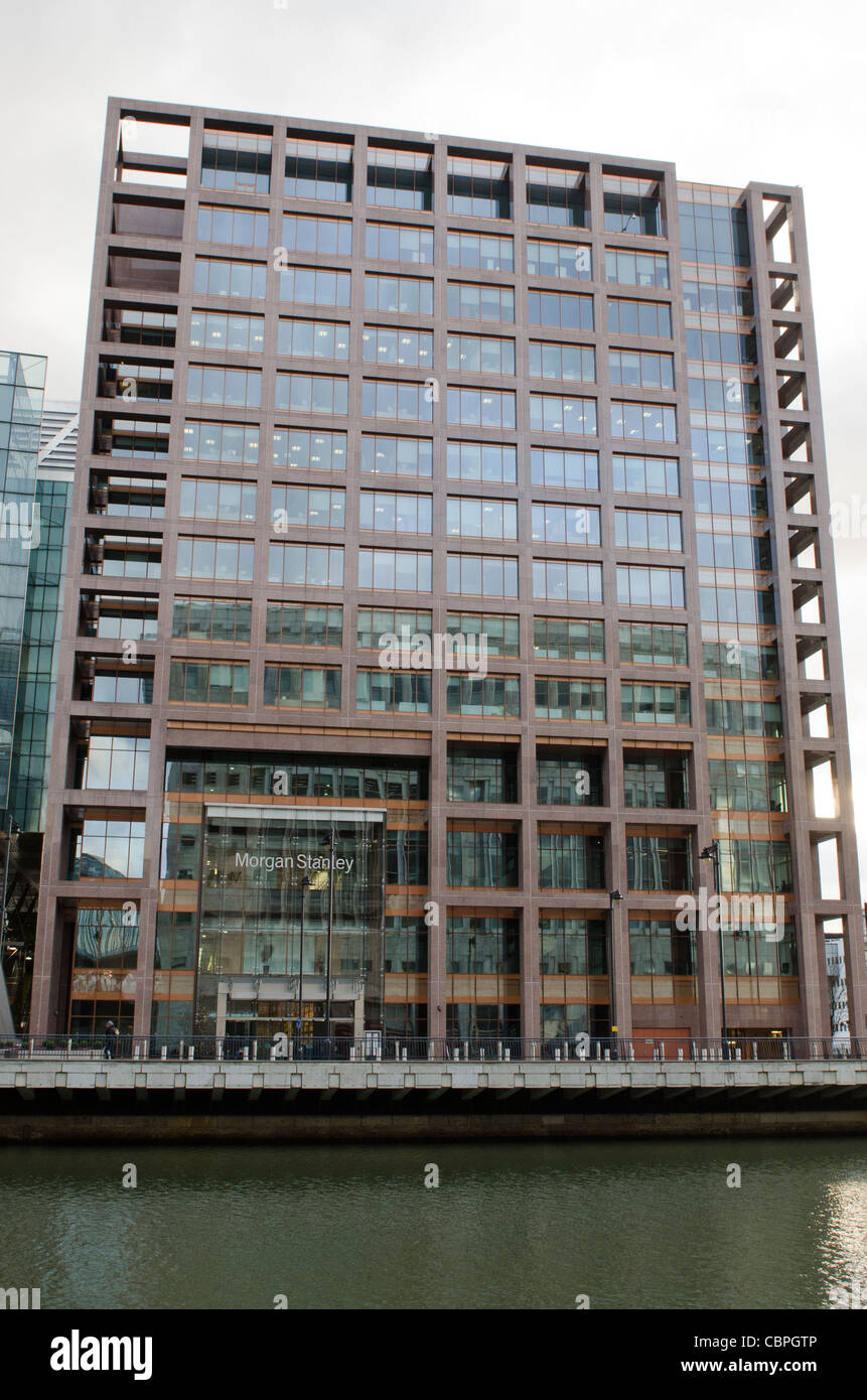 Morgan Stanley Canary Wharf, West India Docks, Isle of Dogs Stock